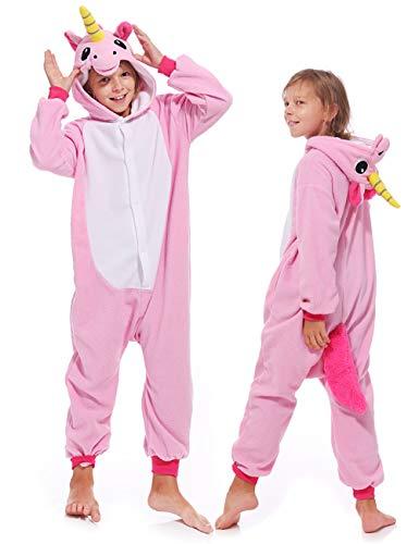 Kids Unisex Unicorn One-Piece Pajamas Cosplay Christmas Pajamas Costume Cute Unicorn Sleepsuit for Boys Girls -