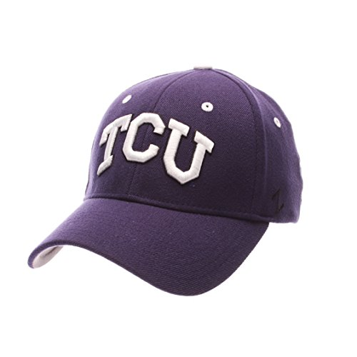horned frogs men stretch fit cap purple medium large authentic tcu baseball hat rally caps