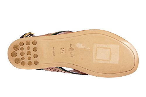 Car Shoe infradito donna in pelle nature marrone
