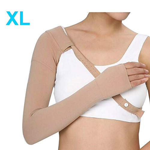 - Enshey Right Arm Compression Sleeve - Right Hand Sleeve Class Glove for Post Mastectomy 30~40 mmHg Anti Swelling Support Edema Swelling Lymphedema (XL)