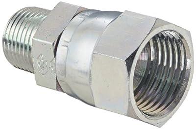 Eaton Weatherhead 9100 Carbon Steel SAE 37 Degree (JIC) Flare-Twin Swivel Adapter
