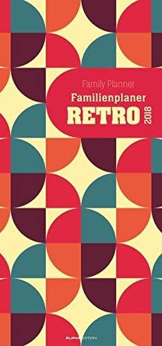 """Calendario Da Muro Della Famiglia """"Rétro"""" 2018 21X45 Cm"""