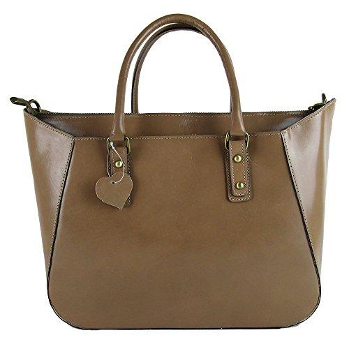 borsa da donna a mano con tracolla vera pelle made in Italy
