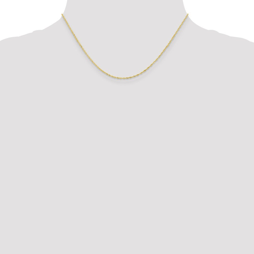 10k Yellow Gold 1.10mm Singapore Chain Necklace 14-24