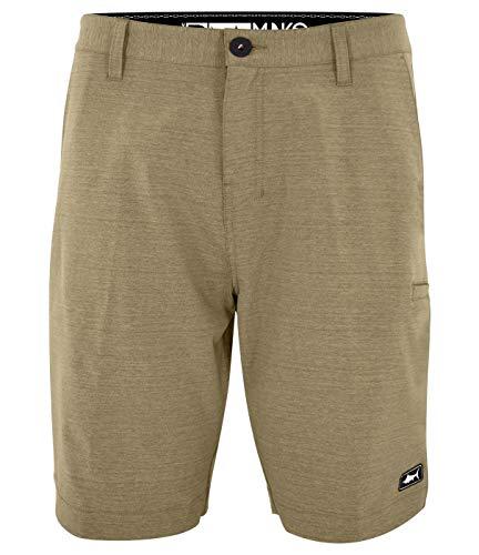 Pelagic Men's Mako Hybrid Fishing Shorts | 21 Inch Outseam | Quick Drying Khaki