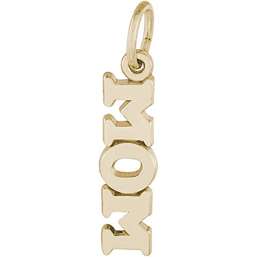 Rembrandt Charms 14K Yellow Gold Mom Accent Charm (0.2 x 0.76 inches) 14k Yellow Gold Mom Charm