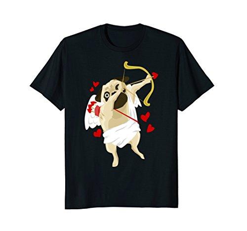 Dabbing Cupid Shirt, Valentines Pug Dabbing Cupid T