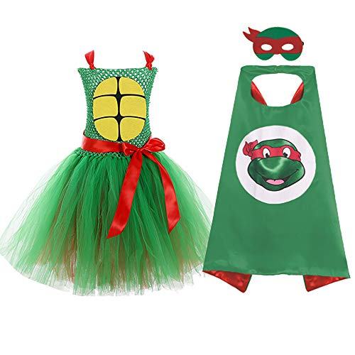 Baby Girl Halloween Superhero Teenage Mutant Ninja Turtles Dress Costumes Red]()
