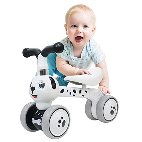 YGJT Baby Balance Bikes Bicycle Kids Toys Riding Toy for 1 Year Boys Girls 10-36 Months Baby's First Bike First Birthday Gift (Spotty Dog)