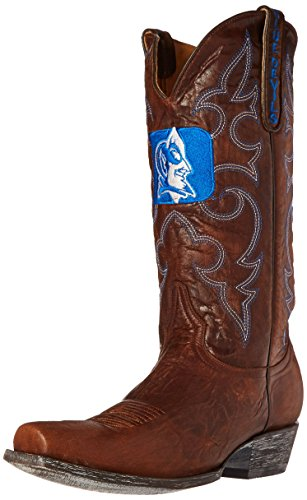 - NCAA Duke Blue Devils Men's Board Room Style Boots, Brass, 10.5 D (M) US