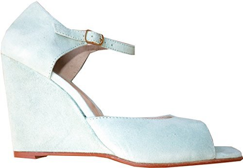 Best Connections Sandalette - Sandalias de Vestir de cuero Mujer verde - Vert - Salbei