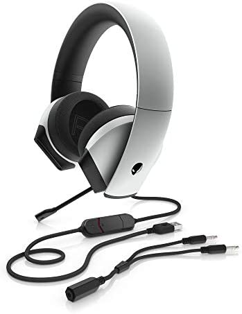 Alienware 7.1 PC Gaming Headset AW510H-Light: 50mm Hi-Res Drivers – Noise Cancelling Mic – Multi Platform Compatible(PS4,Xbox One,Switch) via 3.5mm Jack, Gray 41 6iy hoZL