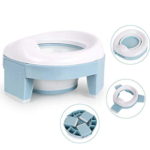 Travel Potty Seat for Toddler, TYRY.HU Portable Potty Training Toilet Potty Chairs for Child Boys and Girls, Non-Slip with Splash Guard, Easy to Empty and Clean