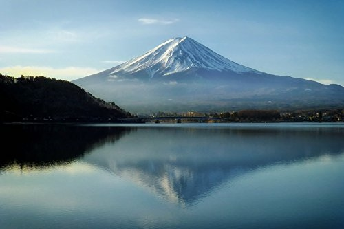 Home Comforts Canvas Print Mount Fuji Japan Sky Clouds Landmark Mountains Stretched Canvas 32 x 24