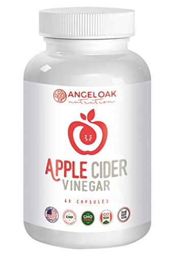 Price comparison product image Extra Strength Apple Cider Vinegar Pills – Made from Pure,  Raw,  Organic ACV - 600mg Capsules for All Natural Weight Loss,  Digestion,  Detox and Cleanse – 60 Pill Supply – Non GMO,  Vegan Supplements