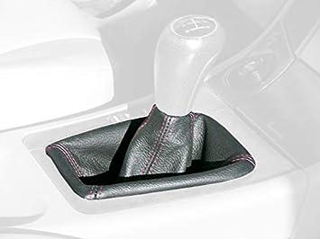C6 Shifter RedlineGoods Shift Boot Compatible with Chevrolet Corvette C5 1997-04 Black Leather-Black Thread