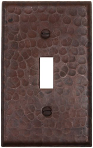 Hammered Copper Switchplate Single Switch Receptacle Cover-LSC400 by Hammermarc