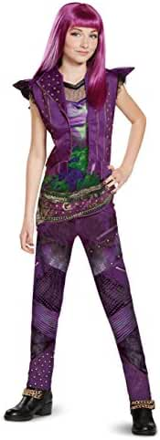 Disney Mal Classic Descendants 2 Costume, Purple, Medium (8-10)
