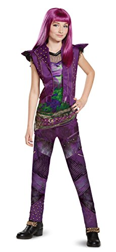 $10 Halloween Costumes (Disney Mal Classic Descendants 2 Costume, Purple, Large (10-12))