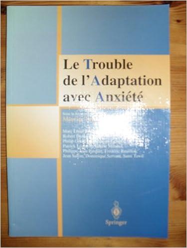 Lire en ligne Le Trouble de l'Adaptation avec Anxiété epub pdf