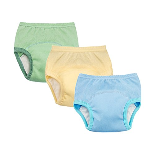 Pants 3 Pack Training (smart sisi 2018 New Anti Leakage Training Pants for Babies, Toddler 6 Layers Potty Training Pants 3 Pack (110, Boys))