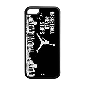 MMZ DIY PHONE CASETPU Case Cover for iphone 6 plus 5.5 inch Strong Protect Case Cute Basketball Jumping Man Background Case Perfect as Christmas gift(4)