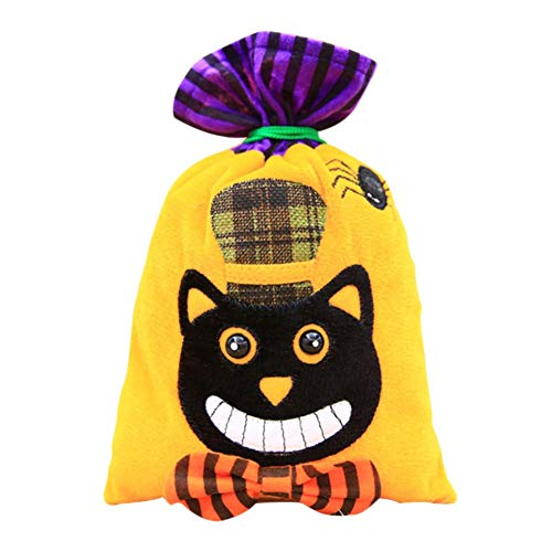 Gift Bags & Wrapping Supplies - Halloween Decoration Non Woven Drawstring Candy Bag Gift Witch Black Cat Creative - Takeaway Bag Black Paper Wine Witch Ghoul Long Supplies Pet Wrapping Ba ()