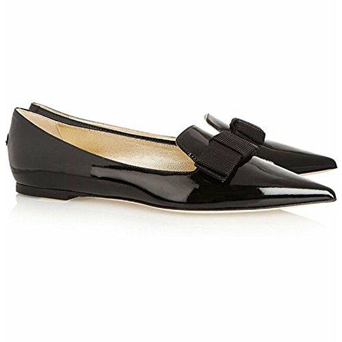 Plat elashe Femme Femmes Bout Plates Noir Fermé Chaussures Femme Ballerines Confort 6q8f6w4