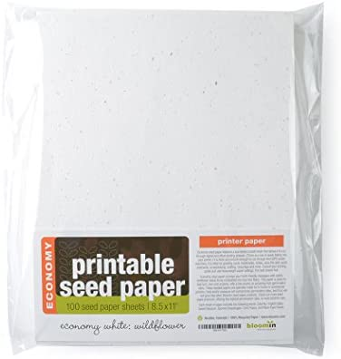 picture relating to Printable Seed Paper referred to as Bloomin Economic climate 12 pt. Seed Paper - 1% Germination Value - 8.5x11 Sheets (100-pack)