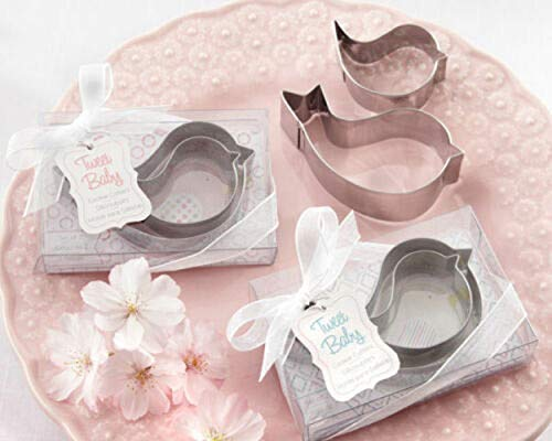 Tweet Baby Mamma and Baby Bird Stainless-Steel Cookie Cutters Pink Baby Shower Party Supplies tokocanna (Cookie Tweet Cutter)