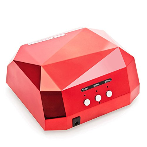 36W UV Led Lamp Nail Dryer 6 Color Diamond Shaped LED UV Lamp Nail Lamp Curing For UV LED Gel Nails Polish Nail Art Tools CCFL LED Black 52w Compact