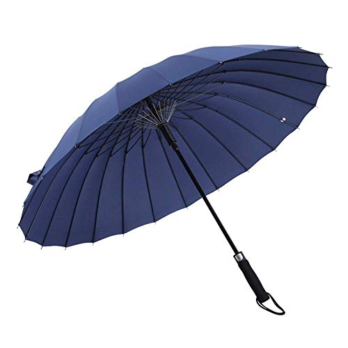 Stick 692 - KEOA 45 Inch Automatic Open Stick Umbrellas, Large Oversized Windproof Waterproof 24 Ribs Fiberglass Frame with Easy Grip Handle for Men Women,Blue