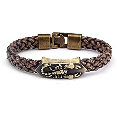 ZUOZUO Leather Wristband Braided Chain Bracelet Men S And Women S Jewelry Sports Wrap Leather Bracelet Men S Bracelet Bracelet Estimated Price £18.99 -