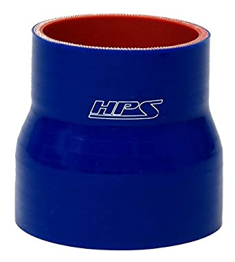 HTST-3F-375-BLK Black 3.75 x 3 Long Straight Silicone Hose Coupler Tube HPS