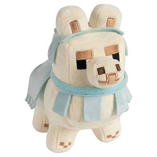 JINX Minecraft Happy Explorer Baby Llama Plush Stuffed Toy (White/Baby Blue, N/A)