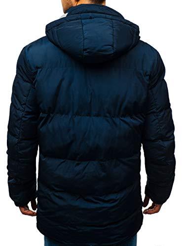 Veste 1669 D'hiver Bleu Fourrure Capuche Homme Foncé Blouson Parka Matelassé Bolf 4d4 xS7qTPntw