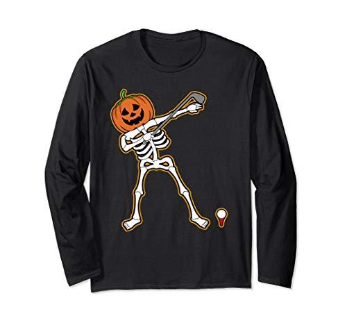 Halloween Dabbing Golfer Skeleton Shirt | Cute Golfing Gift ()