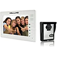"""WOLILIWO Video Doorbell Phone Intercom Monitor 7"""" Door Phone Home Security Color TFT LCD HD Wired for House Office Apartment"""