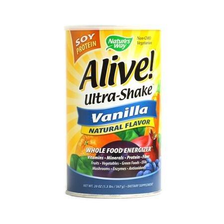 Nature's Way Alive Soy Protein Ultra-Shake Vanilla - 21 oz