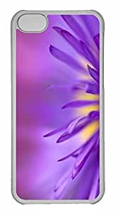 iPhone 5C Case, Personalized Custom Delicate Purple Petals for iPhone 5C PC Clear Case