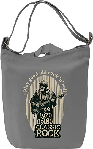 Classic rock Borsa Giornaliera Canvas Canvas Day Bag| 100% Premium Cotton Canvas| DTG Printing|