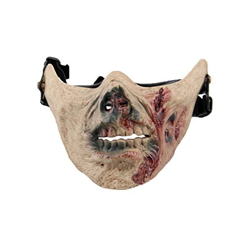 Himine Halloween Zombie Half Face Mask Skeleton Mask
