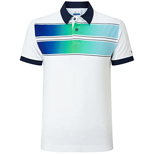 Callaway Golf 2018メンズopti-dri X範囲ダブルChest Stripe Poloシャツ