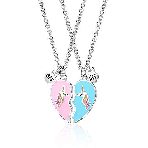 Unicorn Necklace for Birthday Girls BFF Best