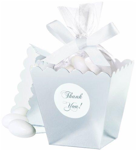 Wilton 415-0522 Silver Popcorn Box Favor Kit, 50 Count]()