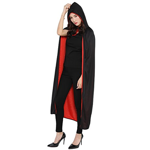 WESTLINK Cloak with Hood Costume Hooded Cape (35-55inches)