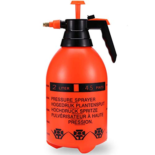 Freehawk 2L Handheld Garden Sprayer Pump Pressure Water Sprayers Pressure Spray Kettle Plant Water Mister Sprayer for Spraying Weeds Garden Watering Home Cleaning Car Washing (Green) (Orange)