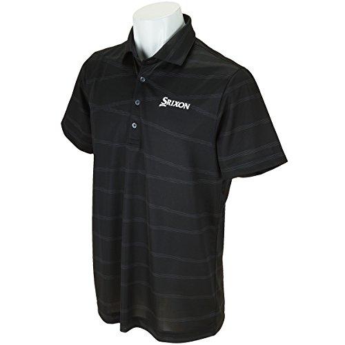 スリクソン SRIXON メンズ ゴルフウェア ポロシャツ 半袖 ハンソデシャツ SRM1587S BLK ブラック 【2017SS】