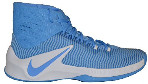 University Nike Basketball Fabric Blue Out Men's White Zoom Tb Ankle Clear High Shoe qUAOZvqn