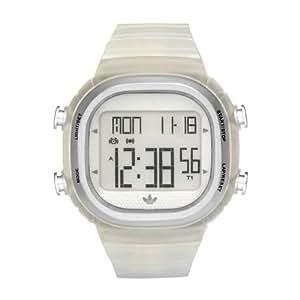 adidas Originals ADH2111 - Reloj digital de cuarzo para hombre con correa de caucho, color blanco